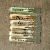 6 женских ароматов в стеклянных пробничках по 1,4 мл