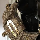 сумка Guess(эко+текстиль) золотая фурнитура
