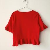 Блуза/топ алого цвета в состоянии новой