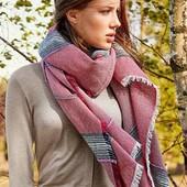 ❤️Tchibo Германия❤️Шикарный тканый шарф-шаль, серо-розовая палитра размер универсальный 85х190см