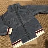 Джинсова курточка вітровка на зріст 92