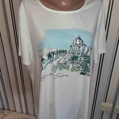 Біла футболочка Bonmarche Love Tees,р22 (Пог  -63)