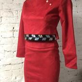 Класні костюми укорочена кофточка і юбка карандаш Мягенька екозамша і супер фасон Якість на висоті