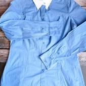 Просто нереальная качественная плотная рубашка на учебу и в офис