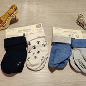 Германия!!! Носки для мальчика! Лот из 4 коттоновых носков! 15-18 размер!