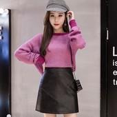 На весну! Супер стильная кожаная мини юбка, экокожа. Размер на выбор!