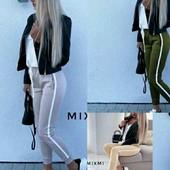 * Стильні* *Модні* жіночі штани з білою полоскою! Лот 1 шт.