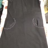 Шикарное черное платье р.50-56/большой см.замеры отл.сост.