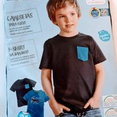 Две классные, хлопковые футболочки Lupilu ( Германия) Размер 98/104 Состав 100 % хлопок