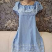 Джинсовое платье с воланом сверху, Denim Co, p. M