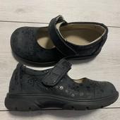 Полностью кожаные туфельки 28 размер стелька 18 см