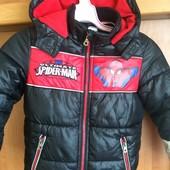 Куртка, холодная весна, 5 лет 110 см.Spiderman. состояние отличное
