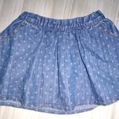 Юбка джинсовая на 3-5лет замеры на фото