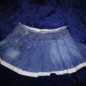Красивая джинсовая юбка 27-28-29р