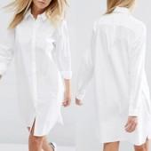 Хлопковое платье рубашка Asos. На низкий рост