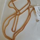 новинка! очень красивая и нежная цепочка, плетение панцирное 60 см, позолота 585 пробы