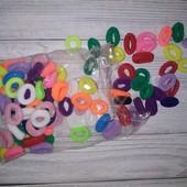 Разноцветные резиночки для волос. В лоте 30 шт! Укрпочта по скидке