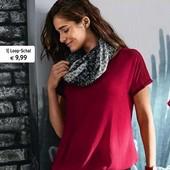 Стильная блуза из комбинированных тканей с плетеным жоржетом Tchibo(германия), размер 44 евро=50-52