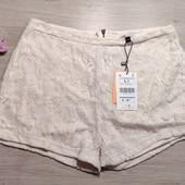 Бершка! Суперовые летние женские шорты с кружевом! Указан Л, но маломерят! 19,99€!