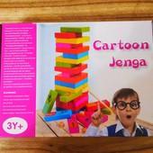 Деревянная игра башня Дженга | Настольная игра дженга | Дженга С 35869 | Дженга животные 54 детали |