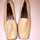 Кожаные туфли лоферы из натуральной кожи Gabor стелька 26,5 см