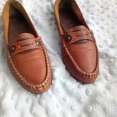 туфли -лоуферы кожа