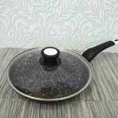 сковородка сковорода с антипригарным гранитным покрытием диаметр в описании