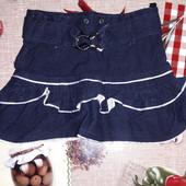 Джинсовая юбка с рюшками 1.5-2.5 года.смотрите замеры.состояние отличное