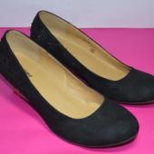 Отличные женские туфли эко-замш Graceland