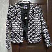 Фирменный новый красивый пиджак р.12-14 коттон+вискоза