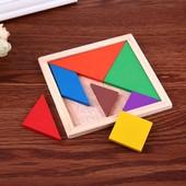 """Познавательная,интеллектуальная, развивающая Деревянная игра-головоломка """"Танграм""""!"""