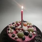 Музыкальная свеча на тортик /день рождение/. 1шт.