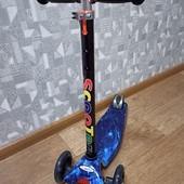Самокат скутер трехколесный