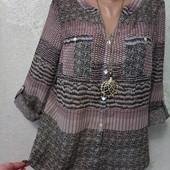 Шикарная нарядная лёгкая блуза туника р.10 Новая Акция читайте