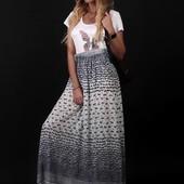 Летнее платье, верх-маечный трикотаж. Очень красивое, легкое!