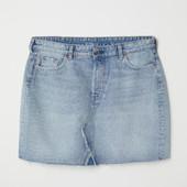 Фирменная стильная юбка из мягкого джинса к весне на 52-54р