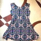 Легкое платье , р. евро XL (замеры в описании)