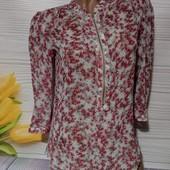 Вау! Обалденная шифоновая блуза размер 44