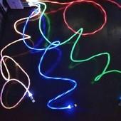 Светодиодный магнитный зарядный кабель.
