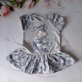 Летнее хлопковое платье Disney, размер 80-86