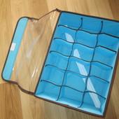 Органайзер для белья 18 секций, с прозрачной крышкой на липучке