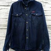 ❤️☀️❤️Джинсовая куртка - рубашка, темно синяя. Нюанс.