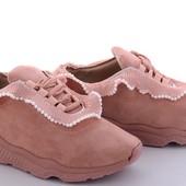 Пудровые кроссовки на пене