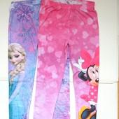 Стильные и красивые леггинсы маленьким модницам от Disney. Качество супер!!! 128 размер.
