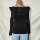 Шикарная кофточка с открытыми плечами и люрексом,Oasis,xs/s