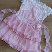 Красивый комплектик платье с гипюровым болеро