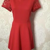 Алое платье из фактурной ткани Dorothy Perkins