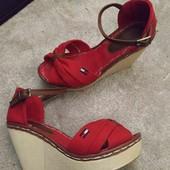 Босоножки Tommy Hilfiger туфли красные