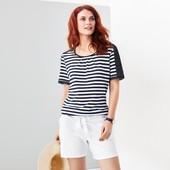 Трикотажные шорты для лета с вышивкой , био-хлопок Tchibo германия размер 40 евро=46-48