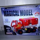 Конструктор металлический машина 816B-142 Пожарная машина , 183 деталей